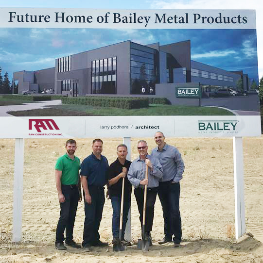 Bailey Employees in front of new office