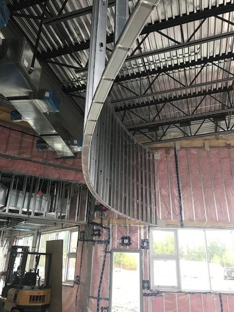 Bailey Steel Studs for Interior Framing with Radius Track