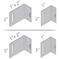 Econo-Connector Surface Mount Brick Ties diagram