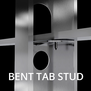 Bent tab stud new