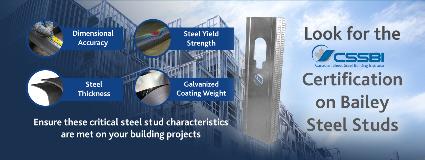 Look for Bailey Steel Stud Certification 2020